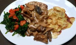 Chicken Marsala with Parsnip Galette